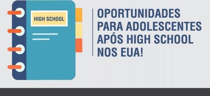 A coordenadora de assuntos internacionais do CCBEU, Rejane Dal Molin, preparou uma lista com as oportunidades que os alunos adolescentes tem acesso após completar o high school nos Estados Unidos.